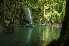 Nível 3 da cachoeira de Erawan Imagens de Stock