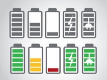 Nível da carga do ícone da bateria Foto de Stock