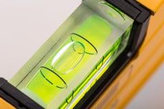 Nível de bolha verde Foto de Stock Royalty Free