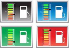 Nível de combustível Foto de Stock Royalty Free