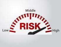 Nível de risco ilustração stock