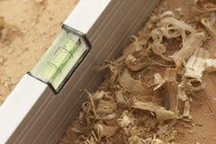 Nível do carpinteiro imagens de stock