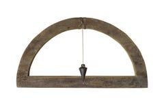 Nível do carpinteiro do vintage isolado Fotografia de Stock Royalty Free