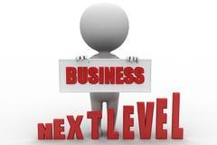 nível seguinte do negócio do homem 3d Imagem de Stock