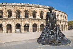 Nîmes, arena's royalty-vrije stock foto
