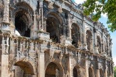 Nîmes, Gard, de arena's royalty-vrije stock foto