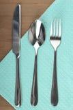 Nóż, łyżka i rozwidlenie, Fotografia Royalty Free
