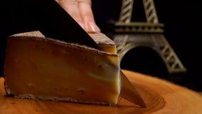 Nóż ciie cienkiego plasterek ciężki ser zbiory