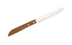Nóż odizolowywający na bielu Obrazy Royalty Free