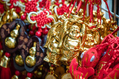 Nó afortunado, ornamento do keyring da fortuna para a decoração chinesa do ano novo Fotografia de Stock Royalty Free