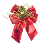 Nó da curva da decoração do Natal Foto de Stock