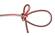 Nó de laço Kalmyk amarrado na corda sintética fotos de stock royalty free