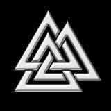 Nó de Wotans - Valknut - Odin - triângulo Imagens de Stock Royalty Free