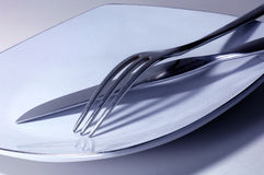 nóż, widelec Fotografia Royalty Free