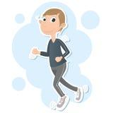nóg męscy mężczyzna outside drogowego biegacza działający buty Zdjęcie Royalty Free