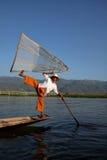 Nóg rowers od Inle jeziora w Myanmar Fotografia Royalty Free
