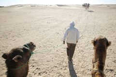 Nómada que camina Imagenes de archivo