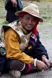 Nómada tibetano Imagens de Stock