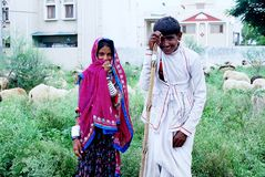 Nómadas de Rajasthan, India Imagens de Stock Royalty Free