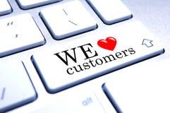 Nós amamos clientes Foto de Stock Royalty Free