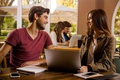 Nós amamos estudar junto Fotografia de Stock