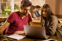 Nós amamos estudar junto Imagens de Stock