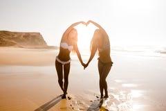 Nós amamos a praia Fotografia de Stock
