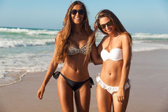 Nós amamos a praia Imagem de Stock