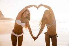 Nós amamos a praia Fotos de Stock Royalty Free