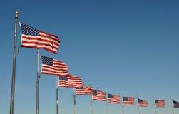 Nós bandeiras fotografia de stock royalty free