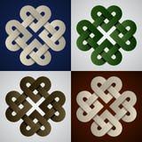 Nós celtas infinitos de papel Imagem de Stock Royalty Free