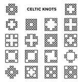 Nós celtas quadrados ilustração do vetor