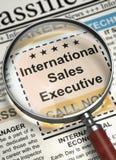 Nós ` com referência a contratar o executivo de vendas internacional 3d Imagem de Stock