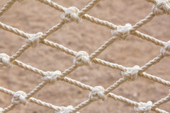 Nós da corda como o fundo Fotos de Stock Royalty Free