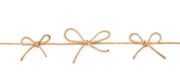 Nós da curva em uma corda isolada Imagens de Stock Royalty Free