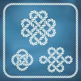 Nós decorativos da corda Imagem de Stock