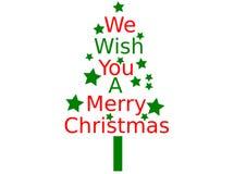 Nós desejamos-lhe o Feliz Natal ilustração stock