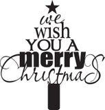 Nós desejamos-lhe o Feliz Natal Fotografia de Stock Royalty Free