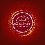 Nós desejamos-lhe o Feliz Natal muito feliz e o fundo do ano novo feliz ilustração royalty free