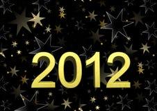 Nós desejamos-lhe um ano novo feliz 2012 ilustração do vetor