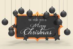 Nós desejamos-lhe um projeto do molde do Feliz Natal 3D que ilustra Imagem de Stock