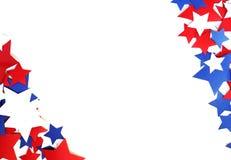 Nós Dia da Independência, o 4 de julho, Memorial Day, patriotismo e veteranos, o feriado do país, bandeiras e branco-b de papel s Imagens de Stock