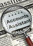Nós estamos contratando as contas assistentes 3d Imagem de Stock Royalty Free