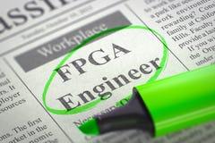 Nós estamos contratando o coordenador de FPGA 3d Fotos de Stock Royalty Free