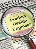 Nós estamos contratando o coordenador de projeto do produto 3d Fotografia de Stock