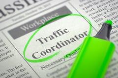 Nós estamos contratando o coordenador do tráfego 3d Foto de Stock Royalty Free