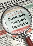 Nós estamos contratando o operador do apoio ao cliente 3d Imagem de Stock
