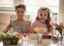 Nós estamos prontos para as alegrias das crianças da Páscoa imagens de stock royalty free