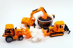 Nós exigimos mais açúcar imagens de stock royalty free