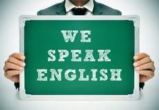 Nós falamos o inglês Imagens de Stock